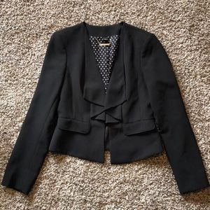 White House Black Market Black Cropped Blazer
